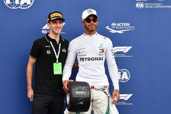 Lewis Hamilton, Mercedes-AMG F1 con il Pirelli Pole Position Award