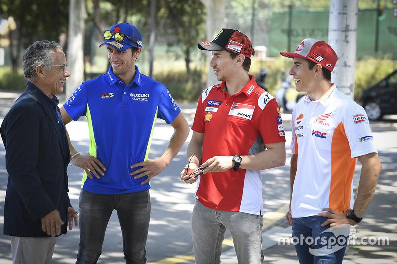 Salvador Cañellas, Alex Rins, Team Suzuki MotoGP, Marc Marquez, Repsol Honda Team, Jorge Lorenzo, Ducati Team