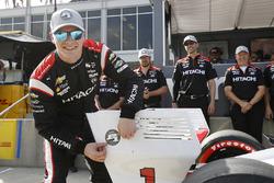 Polesitter Josef Newgarden, Team Penske Chevrolet