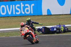 Accidente de Marc Márquez, Repsol Honda Team y Valentino Rossi, Yamaha Factory Racing