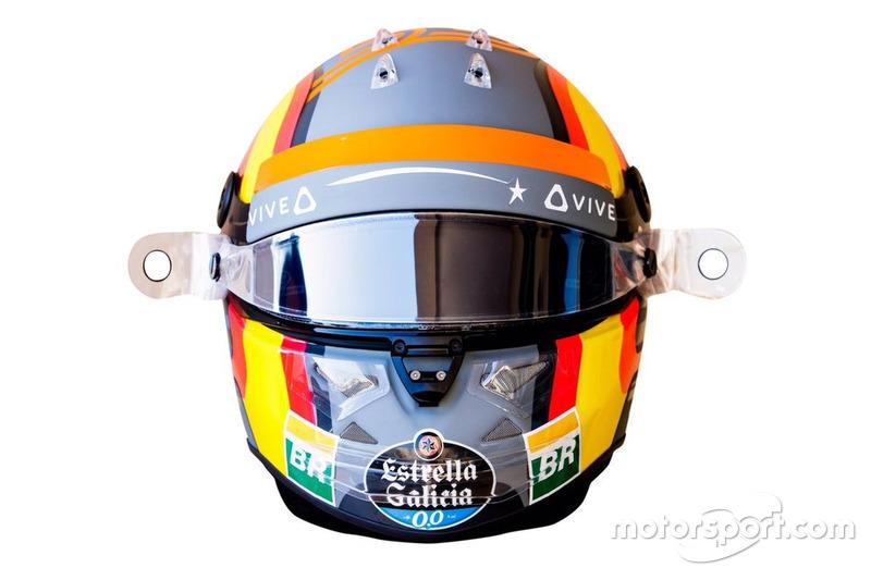El casco del debut de Carlos Sainz con McLaren F1