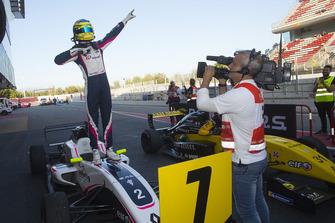 Race winner Logan Sargeant, R-Ace GP