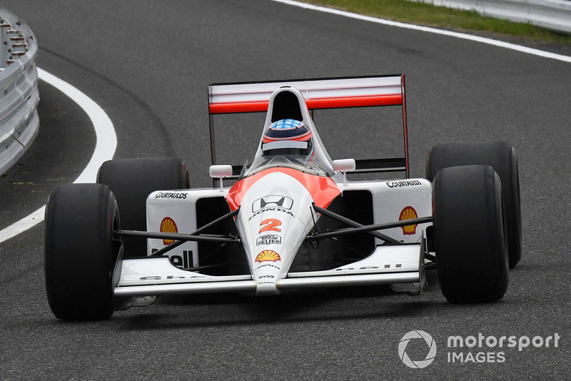 Mclaren Honda MP4/6 at Legends F1 30th Anniversary Lap Demonstration
