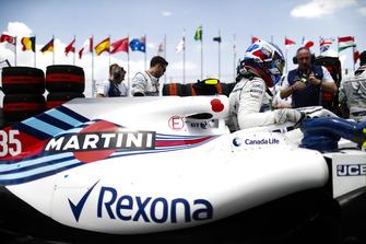 Sergey Sirotkin, Williams FW41, in griglia di partenza