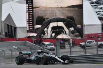 Lewis Hamilton, Mercedes-AMG F1 W09 EQ Power+ on track and on screen