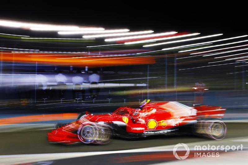 Kimi Raikkonen, Ferrari SF71H leaves the pits