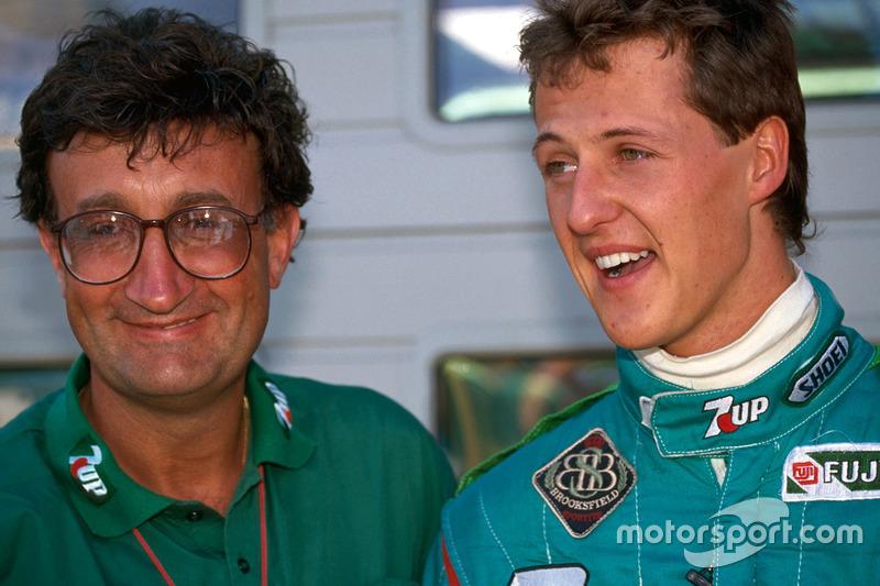 Michael Schumacher con Eddie Jordan
