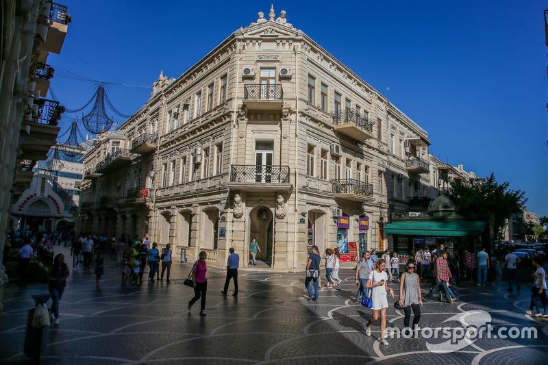 Vista general de Bakú