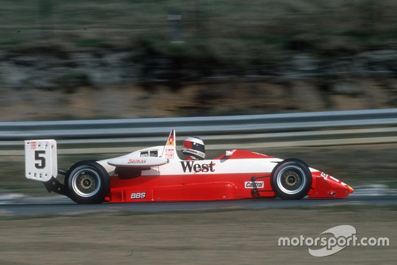 Michael Schumacher in der Deutschen Formel 3 in Zolder 1990