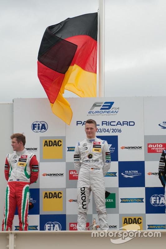Le vainqueur Maximilian Günther, Prema Powerteam Dallara F312 – Mercedes-Benz
