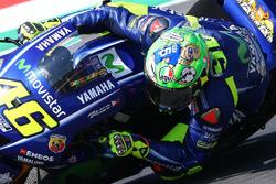 Valentino Rossi, Yamaha Factory Racing with new helmet
