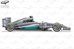 Mercedes W05 side view