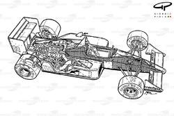 Схема McLaren MP4-4 1988 года