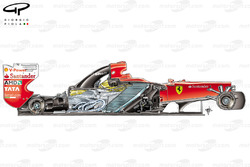 Ferrari F150 side view, without engine cover and sidepods