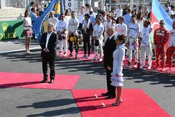 Председатель Formula One Group Чейз Кэри и президент Азербайджана Ильхам Алиев