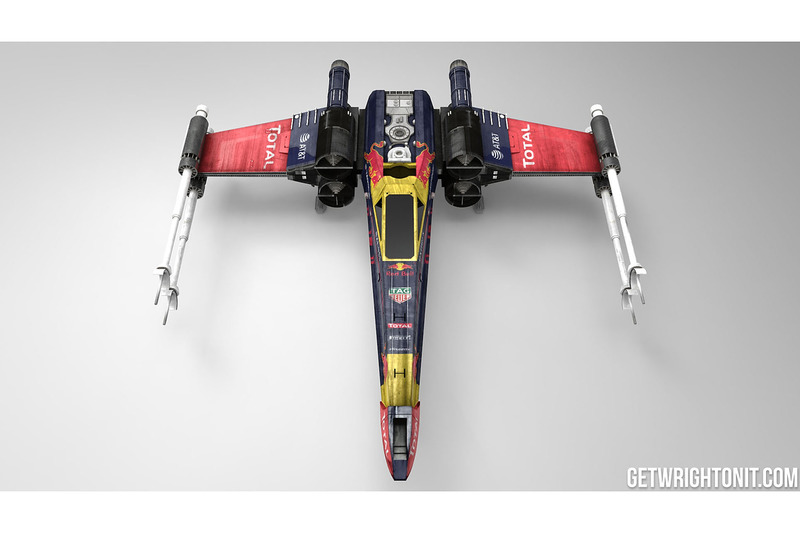Star Wars X,Wing with Red Bull Racing livery