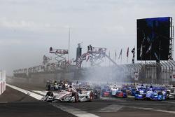 Start: Will Power, Team Penske, Chevrolet, führt mit Verbremser