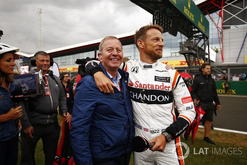 Martin Brundle, Sky Sports F1, Jenson Button, McLaren