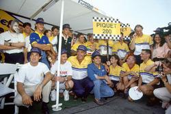 Nelson Piquet, Benetton, feiert seinen 200. Grand Prix