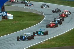 Ayrton Senna, Williams FW16; Michael Schumacher, Benetton B194; Gerhard Berger, Ferrari 412T1; Damon Hill, Williams FW16; Heinz-Harald Frentzen, Sauber C13