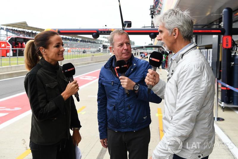 Natalie Pinkham, Sky TV, Martin Brundle, Sky TV yDamon Hill, Sky TV