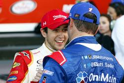 Chase Elliott, JR Motorsports Chevrolet, Elliott Sadler, JR Motorsports Chevrolet