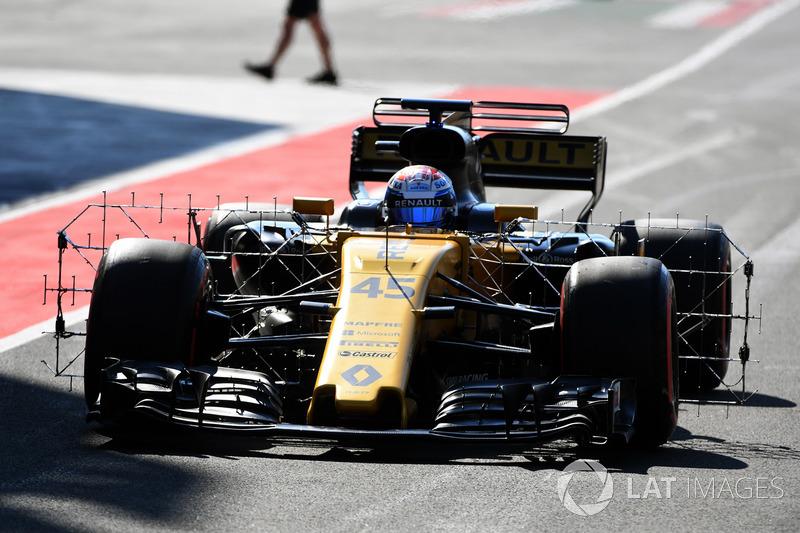 Des capteurs aérodynamiques sur la Renault R.S.17 de Nicholas Latifi
