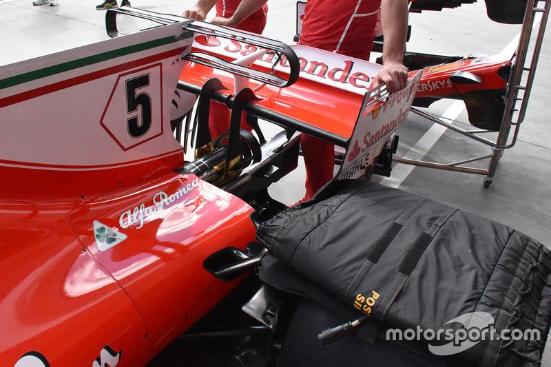 Ferrari SF70-H, ala posteriore e T Wing
