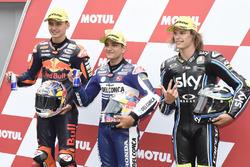 Polesitter Jorge Martin, Del Conca Gresini Racing Moto3; 2. Bo Bendsneyder, Red Bull KTM Ajo; 3. Nicolo Bulega, Sky Racing Team VR46