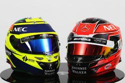 (L to R): Sergio Perez, Sahara Force India F1 and Esteban Ocon, Sahara Force India F1 Team
