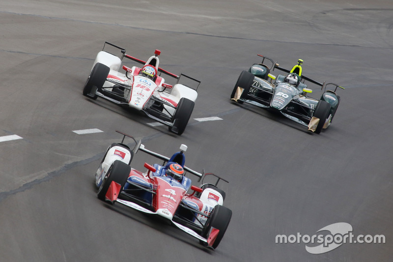 Conor Daly, A.J. Foyt Enterprises Chevrolet, Tristan Vautier, Dale Coyne Racing Honda, Ed Carpenter, Ed Carpenter Racing Chevrolet
