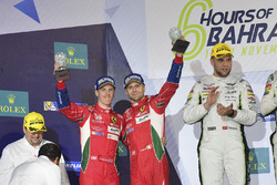 LMGTE Pro Podium: second place #51 AF Corse Ferrari 488 GTE: Gianmaria Bruni, James Calado