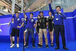 Valentino Rossi, Yamaha Factory Racing, Maverick Viñales, Yamaha Factory Racing, Johann Zarco, Monster Yamaha Tech 3
