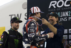 Travis Pastrana and Kurt Busch, on the podium