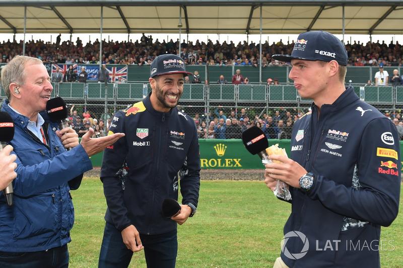 Мартін Брандл, Sky TV, Даніель Ріккардо, Макс Ферстаппен, Red Bull Racing