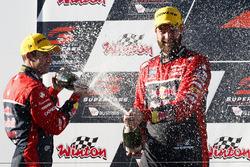 Podium: race winner Shane van Gisbergen, Triple Eight Race Engineering Holden,