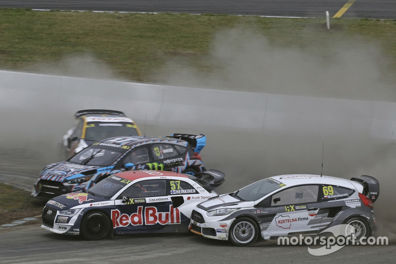 Toomas Heikkinen, EKS, Audi S1 EKS RX Quattro, Martin Kaczmarski, Ford Fiesta
