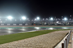 Regen am Losail International Circuit in Katar
