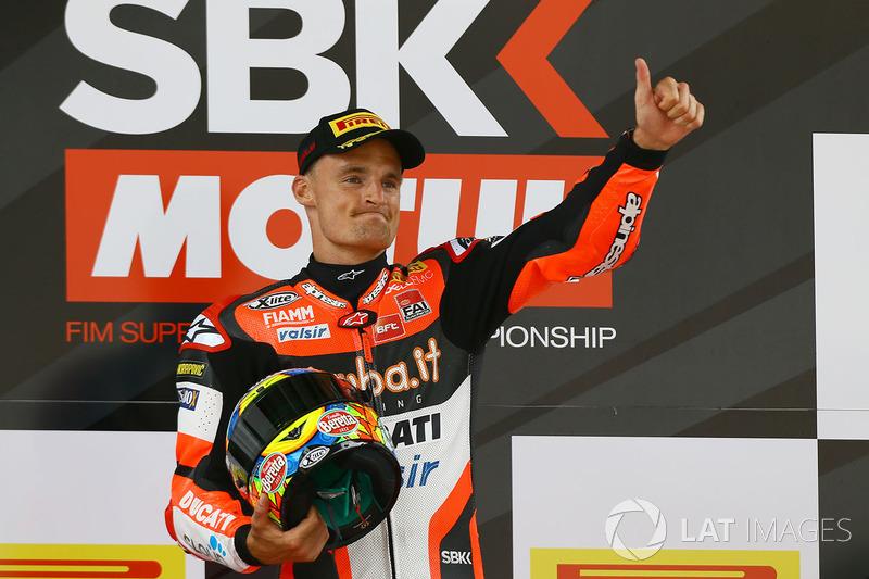 El ganador Chaz Davies, Ducati Team