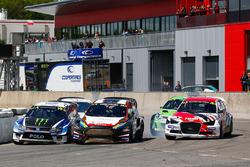 Johan Kristoffersson, Volkswagen Team Sweden, Kevin Eriksson, MJP Racing Team Austria Ford