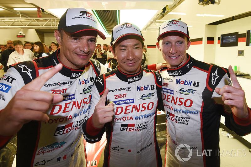 Polesitter: #7 Toyota Gazoo Racing Toyota TS050 Hybrid: Mike Conway, Kamui Kobayashi, Stéphane Sarra