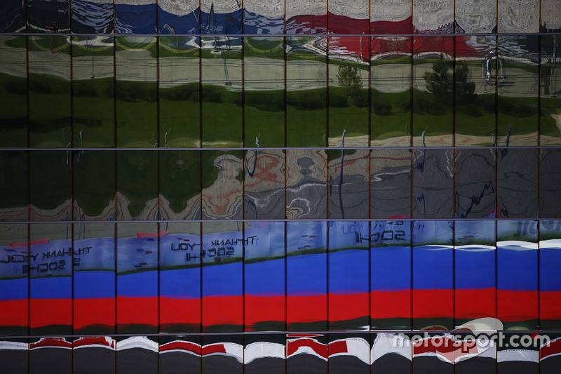 Reflections of the Sochi Autodrom track