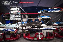 L'espace de l'équipe Ford GT