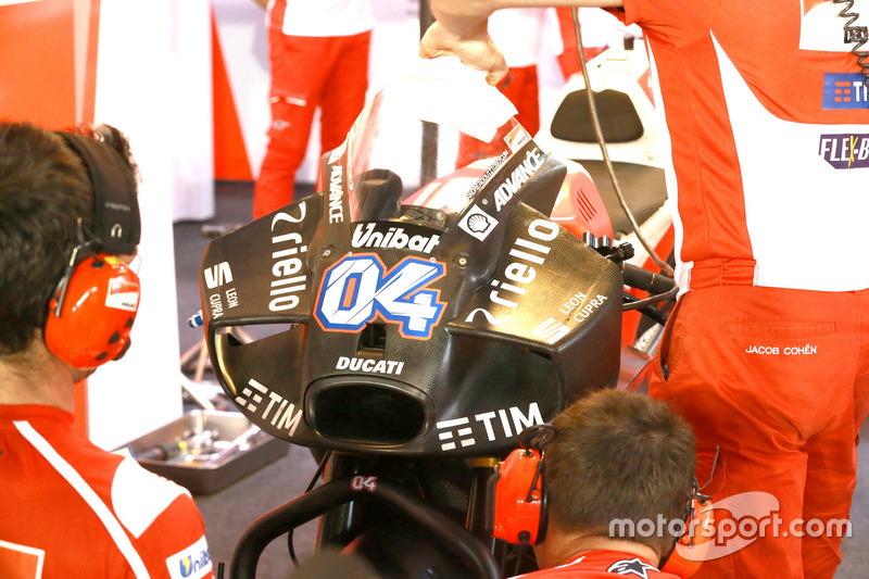 Andrea Dovizioso, Ducati Team, yeni aerodinamik kanatçık sistemi