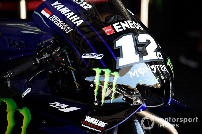 Maverick Vinales, Yamaha Factory Racing detalle de la moto