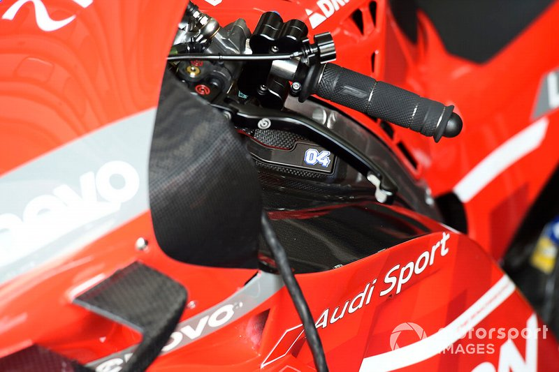 Freno trasero de la Ducati de Andrea Dovizioso