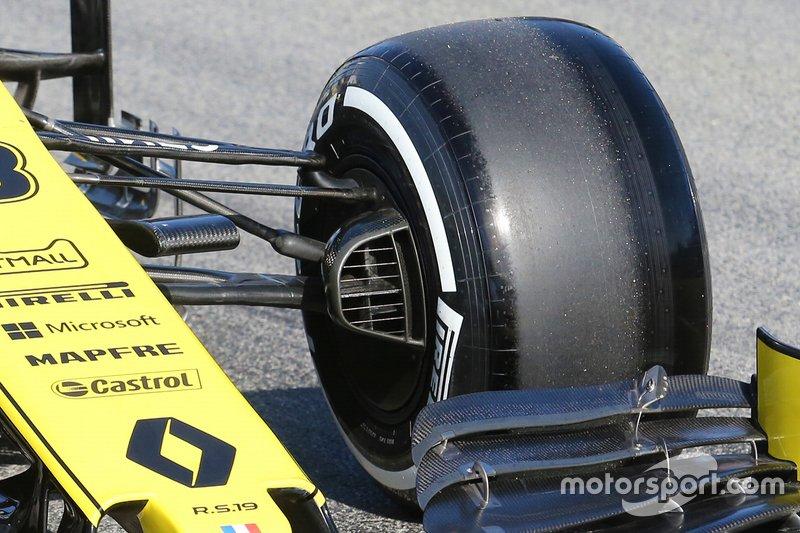 Renault F1 Team R.S. 19, futómű, részlet