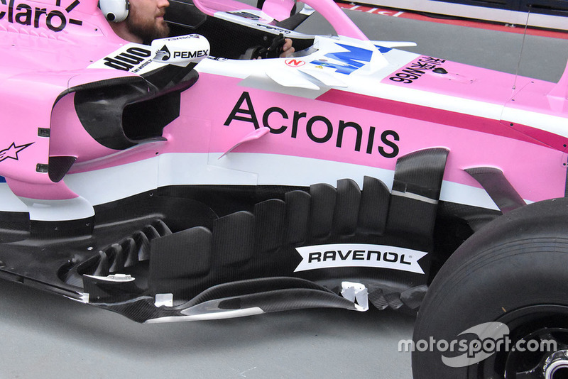 Racing Point Force India, dettaglio del bargeboard