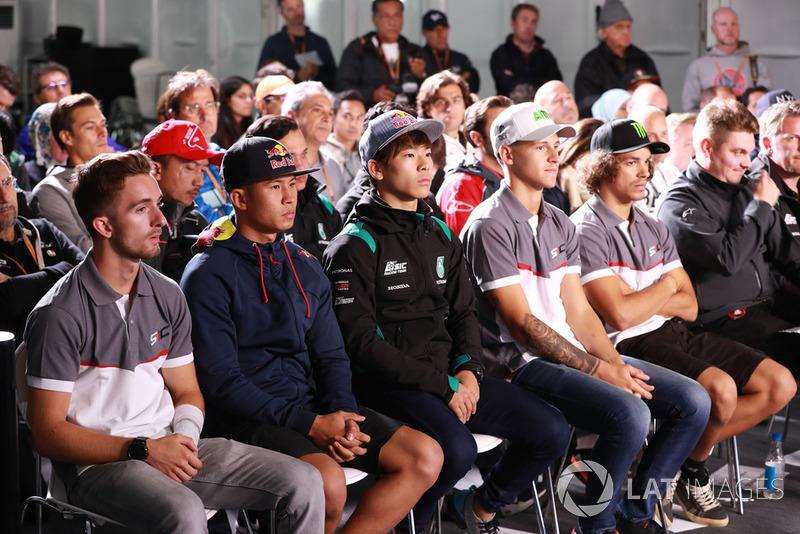 Petronas Yamaha Sepang Racing press conference: John McPhee, Khairul Idham Pawi, Ayumu Sasaki, Fabio Quartararo and Franco Morbidelli