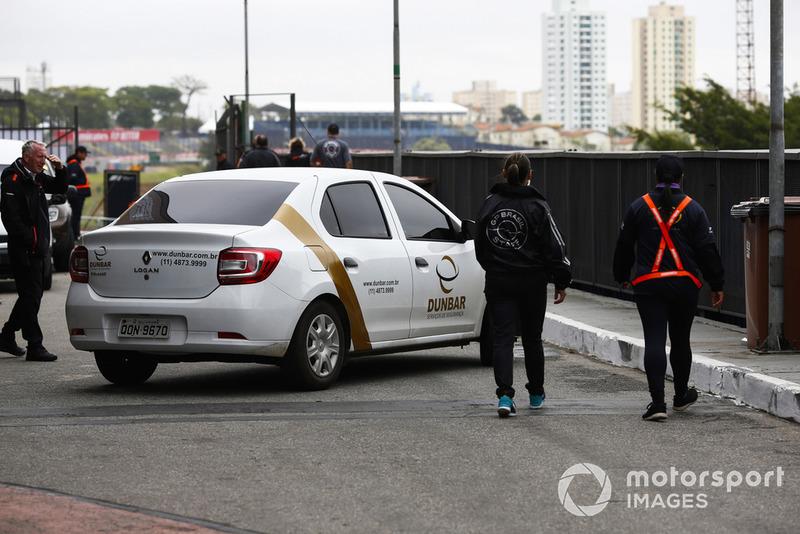 Petugas keamanan di Interlagos